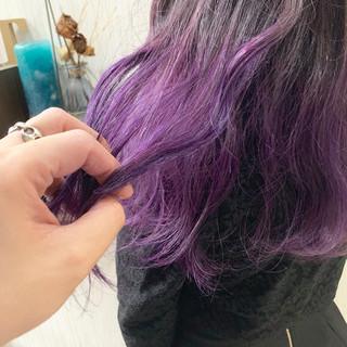 透明感カラー ラベンダーピンク ナチュラル ミディアム ヘアスタイルや髪型の写真・画像