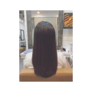 フェミニン トリートメント ロング ストレート ヘアスタイルや髪型の写真・画像 ヘアスタイルや髪型の写真・画像