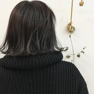 グラデーションカラー ボブ ハイライト 暗髪 ヘアスタイルや髪型の写真・画像