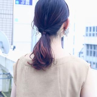 ショート ストレート フェミニン 簡単ヘアアレンジ ヘアスタイルや髪型の写真・画像 ヘアスタイルや髪型の写真・画像