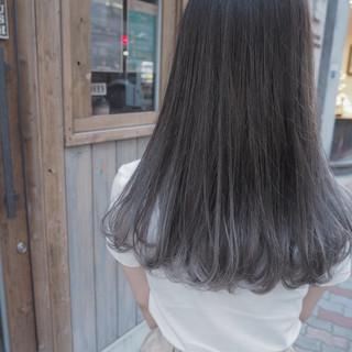 ロング ストリート リラックス 秋 ヘアスタイルや髪型の写真・画像 ヘアスタイルや髪型の写真・画像