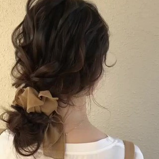 ゆるナチュラル エレガント 結婚式ヘアアレンジ ヘアアレンジ ヘアスタイルや髪型の写真・画像