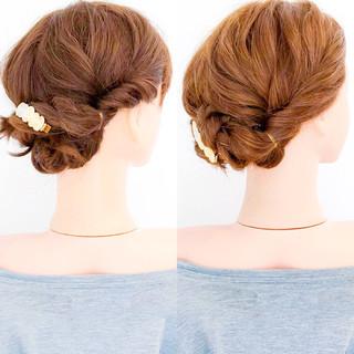 エレガント アウトドア 上品 簡単ヘアアレンジ ヘアスタイルや髪型の写真・画像