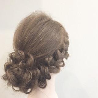 ヘアアレンジ 編み込み 三つ編み ストレート ヘアスタイルや髪型の写真・画像