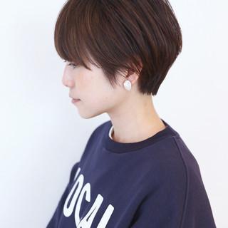 ナチュラル ベリーショート ショートヘア マッシュショート ヘアスタイルや髪型の写真・画像