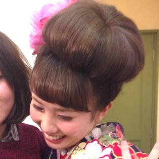 アップスタイル お団子 ヘアアレンジ コンサバ ヘアスタイルや髪型の写真・画像