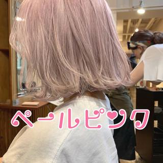 フェミニン 簡単ヘアアレンジ ボブ バレイヤージュ ヘアスタイルや髪型の写真・画像