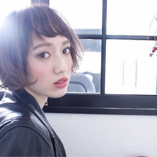 ボブ 大人女子 小顔 ニュアンス ヘアスタイルや髪型の写真・画像