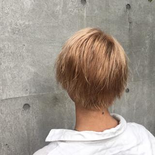 パーマ ショート 外国人風 ブリーチ ヘアスタイルや髪型の写真・画像