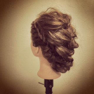 簡単ヘアアレンジ ヘアアレンジ フェミニン ショート ヘアスタイルや髪型の写真・画像