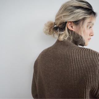 ミルクティーベージュ ショート 簡単ヘアアレンジ ボブ ヘアスタイルや髪型の写真・画像 ヘアスタイルや髪型の写真・画像