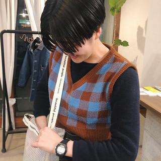 ヘアアレンジ ストリート 黒髪 マッシュショート ヘアスタイルや髪型の写真・画像