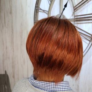 圧倒的透明感 透明感カラー オレンジ ナチュラル ヘアスタイルや髪型の写真・画像