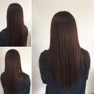 縮毛矯正 髪質改善トリートメント ロング 髪質改善 ヘアスタイルや髪型の写真・画像