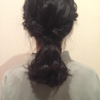 簡単ヘアアレンジ ゆるふわ ミディアム ショート ヘアスタイルや髪型の写真・画像 ヘアスタイルや髪型の写真・画像