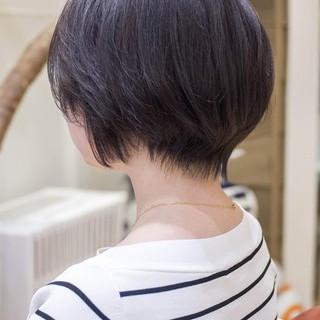 ショートボブ ショート ミニボブ 大人かわいい ヘアスタイルや髪型の写真・画像