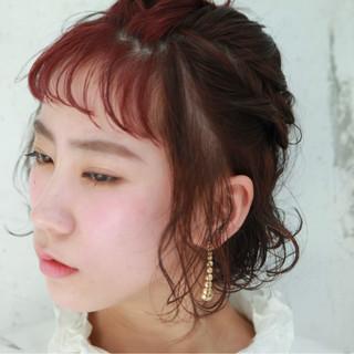 簡単ヘアアレンジ ヘアアレンジ ショート 色気 ヘアスタイルや髪型の写真・画像