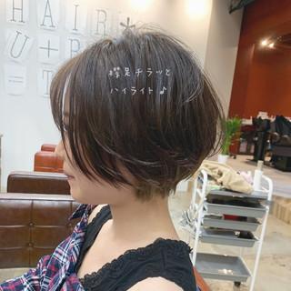 フェミニン 大人かわいい ショート アッシュ ヘアスタイルや髪型の写真・画像