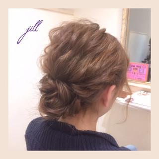 ボブ 簡単ヘアアレンジ 波ウェーブ ヘアアレンジ ヘアスタイルや髪型の写真・画像 ヘアスタイルや髪型の写真・画像