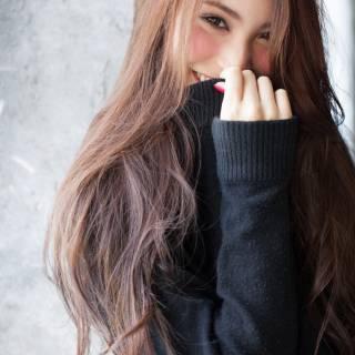 コンサバ ロング モテ髪 ウェーブ ヘアスタイルや髪型の写真・画像