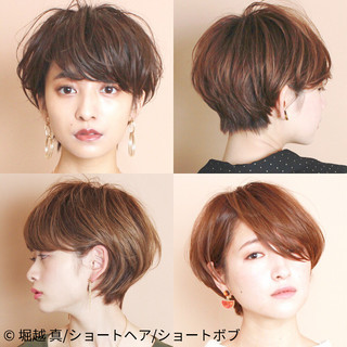 大人かわいい 大人ショート ナチュラル ふんわりショート ヘアスタイルや髪型の写真・画像