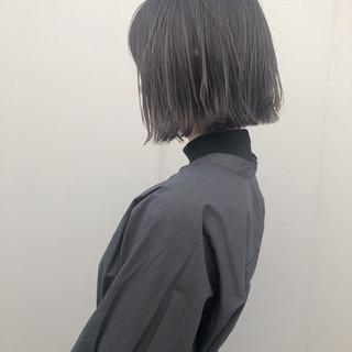 ボブ ナチュラル 透明感カラー 外ハネボブ ヘアスタイルや髪型の写真・画像