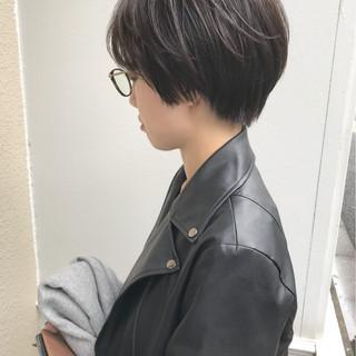 モード 暗髪 ショートボブ ショート ヘアスタイルや髪型の写真・画像 ヘアスタイルや髪型の写真・画像