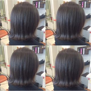 アッシュ 暗髪 ブルージュ ボブ ヘアスタイルや髪型の写真・画像 ヘアスタイルや髪型の写真・画像