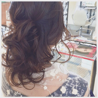 フェミニン モテ髪 ヘアアレンジ ゆるふわ ヘアスタイルや髪型の写真・画像