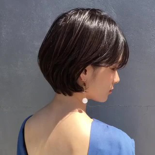 大人かわいい ショート 色気 ナチュラル ヘアスタイルや髪型の写真・画像