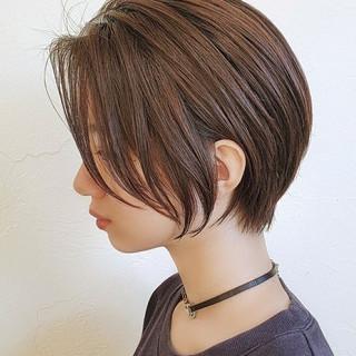 小顔ショート ショートヘア ショート ショートボブ ヘアスタイルや髪型の写真・画像
