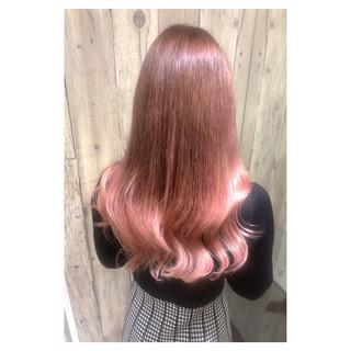 ピンク ダブルカラー デート 大人女子 ヘアスタイルや髪型の写真・画像