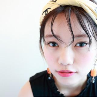 ボブ 外国人風 暗髪 ヘアアレンジ ヘアスタイルや髪型の写真・画像