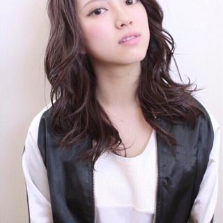 かわいい 似合わせ ラベンダーピンク ミディアム ヘアスタイルや髪型の写真・画像