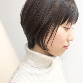 前下がりショート ショート ナチュラル ショートヘア ヘアスタイルや髪型の写真・画像 ヘアスタイルや髪型の写真・画像