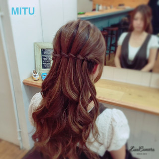 ウォーターフォール ショート 大人かわいい 簡単ヘアアレンジ ヘアスタイルや髪型の写真・画像 ヘアスタイルや髪型の写真・画像