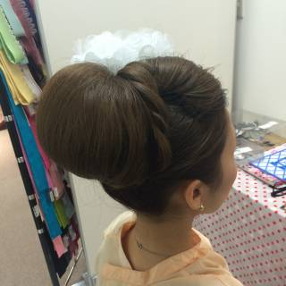 ヘアアレンジ ブライダル ロング 和装 ヘアスタイルや髪型の写真・画像
