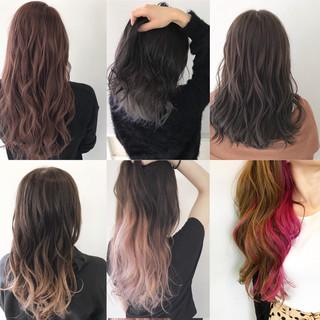 インナーカラー 外国人風カラー ミディアム デート ヘアスタイルや髪型の写真・画像