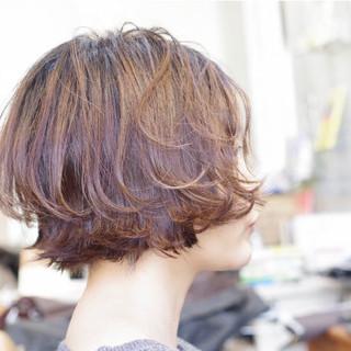 ミニボブ ショートボブ 大人グラボブ 切りっぱなしボブ ヘアスタイルや髪型の写真・画像