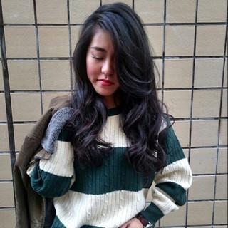 ストリート かっこいい 外国人風 ロング ヘアスタイルや髪型の写真・画像