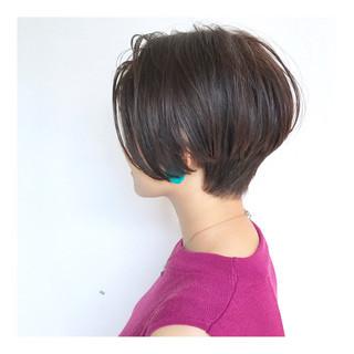 ショートボブ ショート 美シルエット まとまるボブ ヘアスタイルや髪型の写真・画像