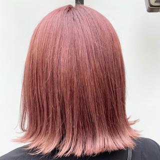 ピンクラベンダー ナチュラル ピンクアッシュ ピンク ヘアスタイルや髪型の写真・画像