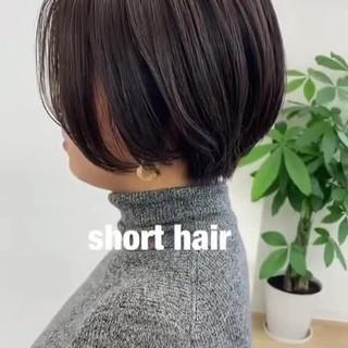 ショート 透明感カラー お洒落 ナチュラル ヘアスタイルや髪型の写真・画像
