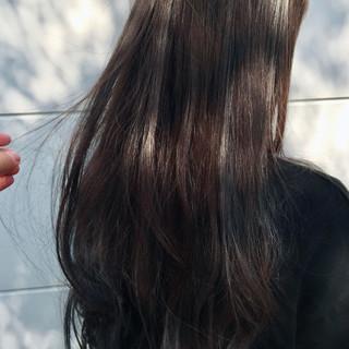 デート アッシュ フェミニン ロング ヘアスタイルや髪型の写真・画像