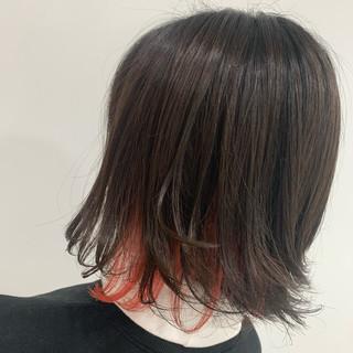 インナーカラー N.オイル ボブ ミニボブ ヘアスタイルや髪型の写真・画像