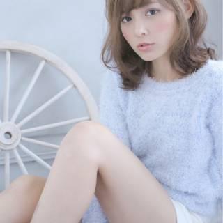 大人かわいい ゆるふわ フェミニン モテ髪 ヘアスタイルや髪型の写真・画像 ヘアスタイルや髪型の写真・画像