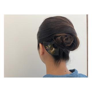 結婚式 エレガント 和装 ロング ヘアスタイルや髪型の写真・画像 ヘアスタイルや髪型の写真・画像