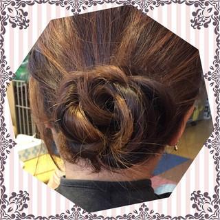大人かわいい ヘアアレンジ 三つ編み ミディアム ヘアスタイルや髪型の写真・画像