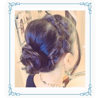 成人式 編み込み 結婚式 簡単ヘアアレンジ ヘアスタイルや髪型の写真・画像 ヘアスタイルや髪型の写真・画像