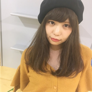 ガーリー 外国人風 大人かわいい ベレー帽 ヘアスタイルや髪型の写真・画像